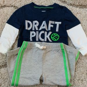 Carters boy 2 piece sporty outfit
